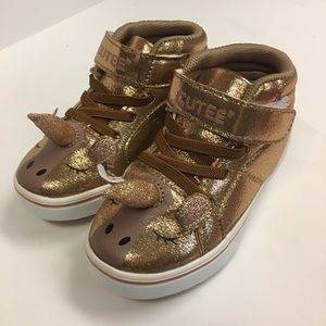 👑 Toddler Rose Gold Unicorn Sneakers, NIB, Size 8